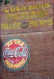 Old Coca Cola Advertisement Stock Photo