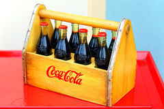 Old coca cola bottles Royalty Free Stock Images