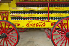 Old Coca-Cola soda wagon antique in Central GA off highway 22 Royalty Free Stock Photos