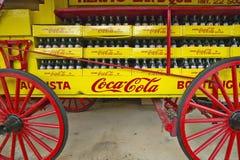 Old Coca-Cola soda wagon antique in Central GA off highway 22 Royalty Free Stock Photos