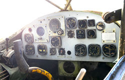 Old cockpit of plane at war museum Royalty Free Stock Photos