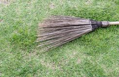 Old coconut broom stick. Stock Images