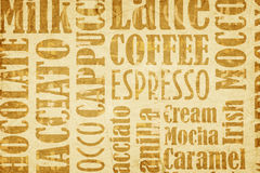 Old Coffee Background Stock Photo