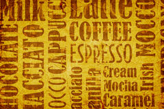 Old coffee background Royalty Free Stock Photos