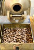 Old coffee beans machine as gourmet background Stock Photo