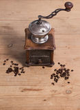 Old Coffee grinder with bean Stock Images
