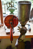 Old coffee grinder. Old german coffee grinder, commonly used in Silesian (Poland) houses Royalty Free Stock Photo