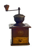 Old coffee grinder isolated white background Stock Photography