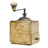 Old coffee grinder isolated on a white background Stock Photo