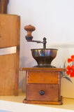 Old coffee grinder in kitchen Stock Photos
