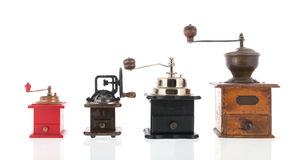 Old coffee grinders Royalty Free Stock Images