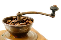 Old coffee gringer on white background Stock Image