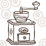 Old coffee mill Stock Images