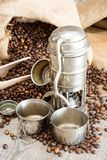 Old coffee pot Stock Images