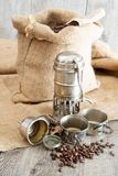 Old coffee pot Stock Photos