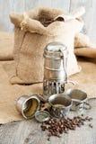 Old coffee pot Stock Photos