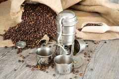 Old coffee pot Stock Photography