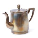 Old coffee pot  on white background Royalty Free Stock Photos