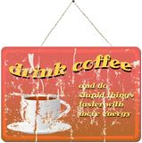Old coffee shop sign,  illustration Royalty Free Stock Photos