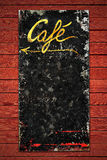 Old coffee sign in weathered metall Stock Photo