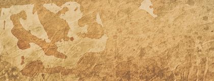 Old coffee or tea stained paper background illustration with texture and grunge, vintage or ancient parchment