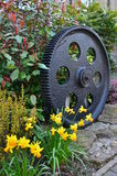 Old Cog in Garden Royalty Free Stock Photography