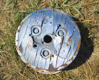 Old cog on ground. Stock Photo
