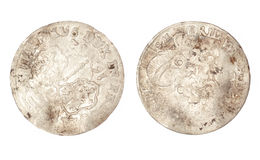 The old coin of 1682. The old coin of Polish-Lithuanian Commonwealth 1682 Stock Photos