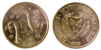 Old coin of cyprus Royalty Free Stock Photography