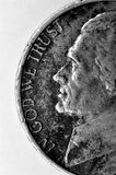 Old Coin with In God We Trust Words Royalty Free Stock Photos