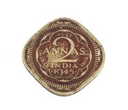 Old Coin. Indian Vintage Old coin isolated on white Stock Images