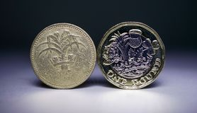 Old Coin, New Coin Version 1 Stock Photography