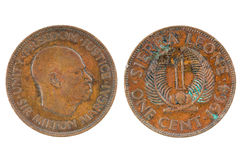 Old coin one cent. Republic of Sierra Leone Stock Photo