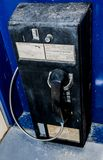 Old coin operated telephone booth Stock Photography