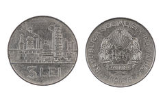 Old coin of Romania.Lei three. Stock Image
