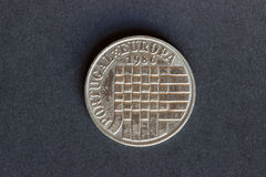 Old coin 25 shields Royalty Free Stock Photography