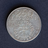 Old coin 250 shields Stock Photo
