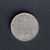 Old coin 20 shields Royalty Free Stock Image