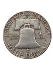 Old coin (silver) Royalty Free Stock Photos
