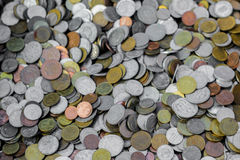 Old coins. A collection of old and new coins Royalty Free Stock Image