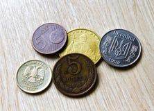 Old coins, akntikvariat comparison Russian  , Ukraine, Europe Stock Image