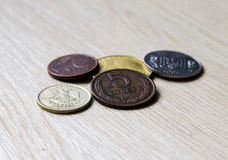 Old coins, akntikvariat comparison Russian  , Ukraine, Europe Stock Images