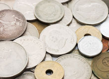 Old coins as a background Stock Images