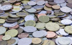 Old coins. Background. royalty free stock images