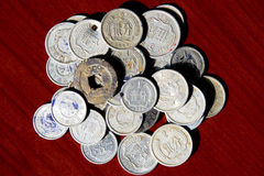 Old coins in China. Chinese old coins,whice is not available current in China,only for collection Stock Photo