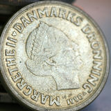 Old coins of different countries,Denmark, Stock Images