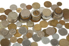 Old Coins of different countries royalty free stock photo