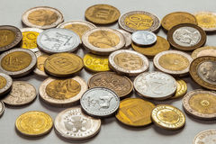 Old coins of different nationalities Stock Photography