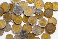 Old coins of different nationalities Stock Photos