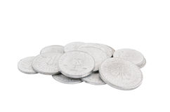 Old coins isolated Royalty Free Stock Photos